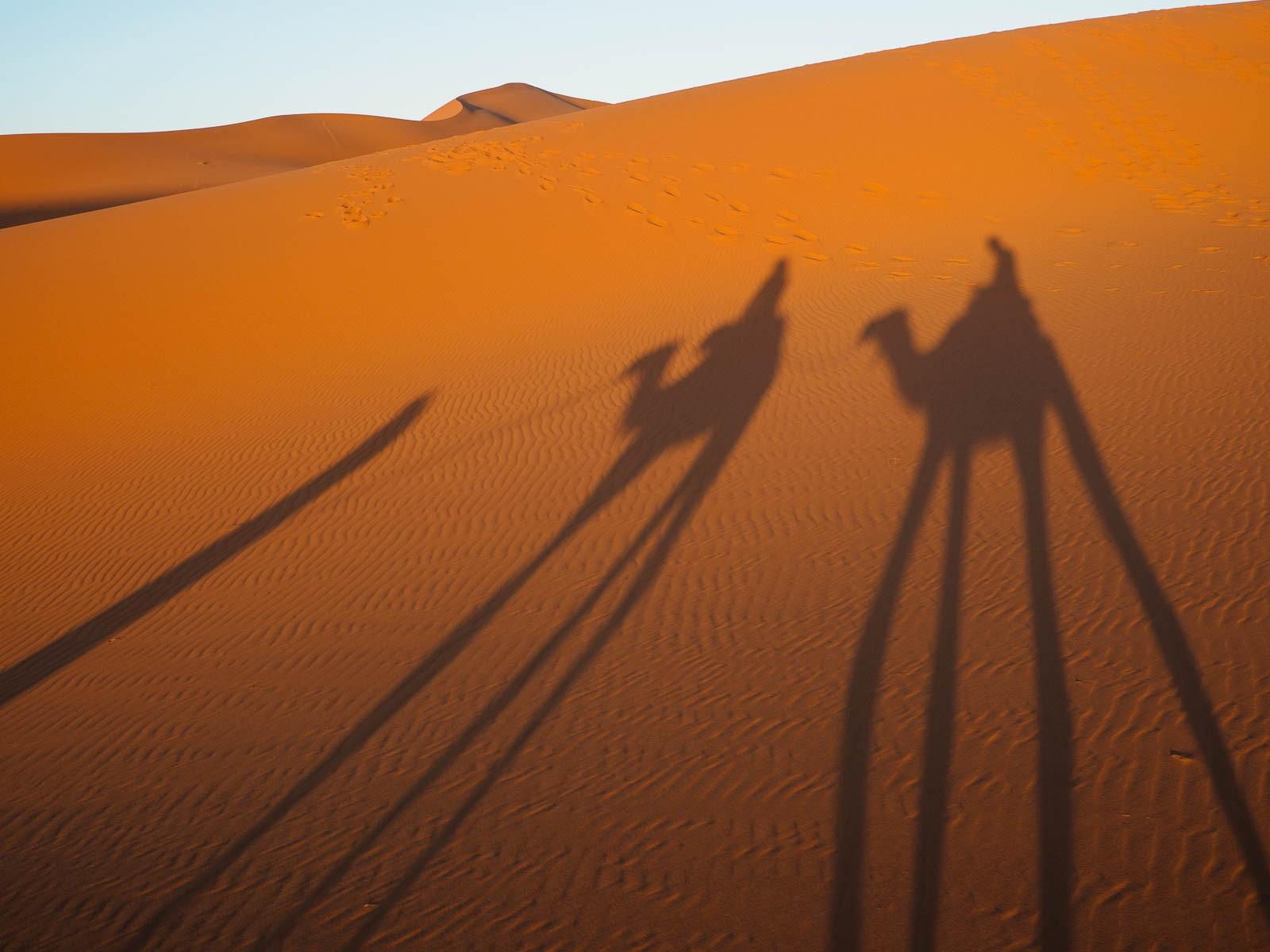 Vuelta al hotel tras dormir y ver el amanecer en las dunas de Merzouga.