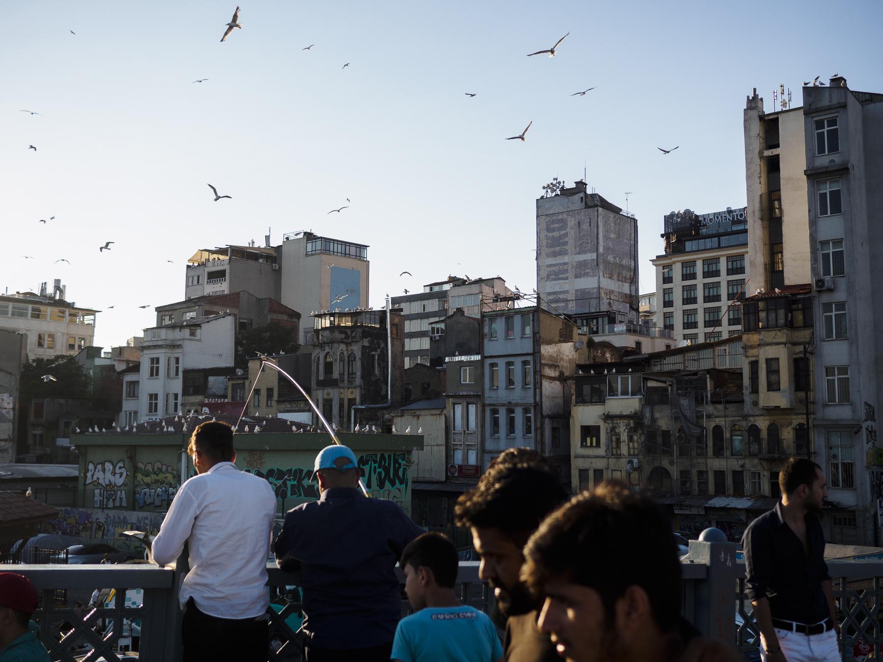 Puente sobre el cuerno de oro, Estambul.