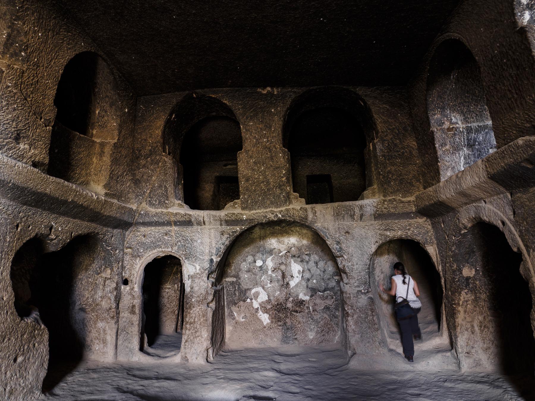 Monasterio excavado en la roca, Capadoccia.