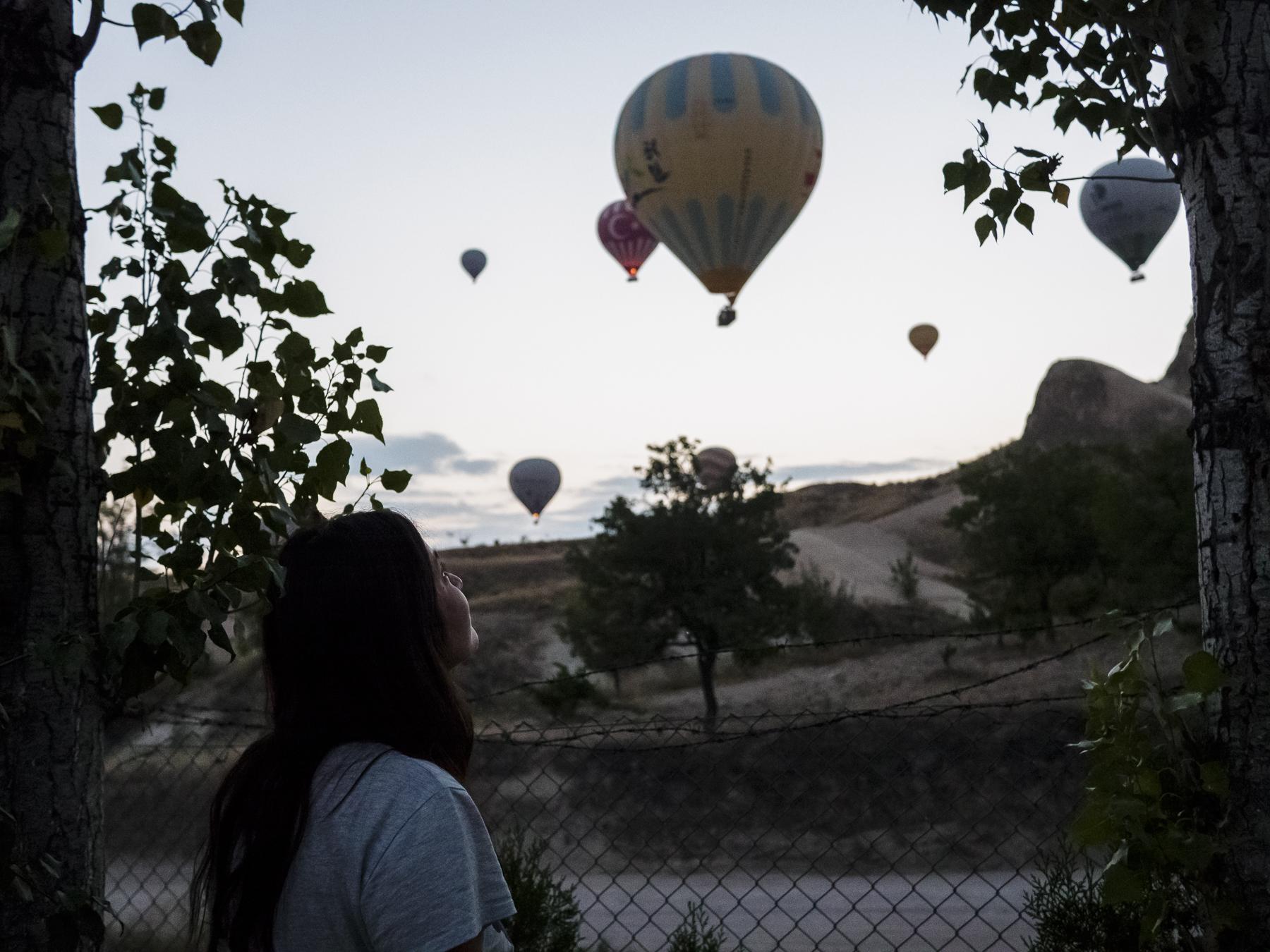 Los globos que nos despertaron, Capadoccia.